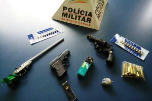 PM faz apreensões de armas e munições na zona rural de Durandé