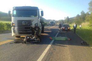 Orizânia: Casal morre em acidente de motocicleta com caminhão