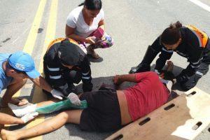 Adolescente provoca acidente na BR-116 em Santa Bárbara do Leste
