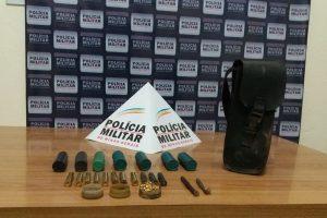 Manhuaçu: Polícia apreende munições em residência rural