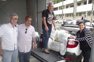 Manhuaçu: Rotary Club recebe alimentos da Feira da Paz