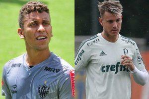 Atlético e Palmeiras fecham troca de Marcos Rocha por Róger Guedes