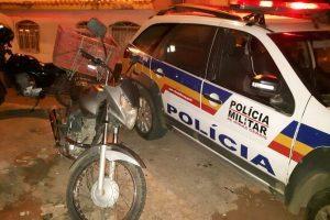 Manhuaçu: PM recupera motocicleta e apreende crack