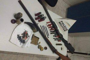 Martins Soares: PM apreende armas de fogo e munições na zona rural