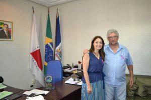 Prefeita Cici recebe visita do deputado subtenente Gonzaga