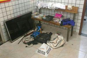 PM age rápido e recupera objetos furtados em Manhuaçu