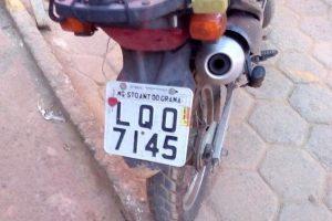 Moto roubada em Viçosa é encontrada em Orizânia