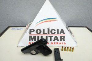 Armas apreendidas pela PM em Sericita e Pedra Bonita