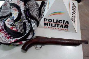 Manhuaçu: PM apreende arma de fogo com menor