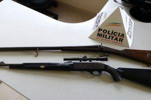 Caparaó: PM apreende duas armas de fogo