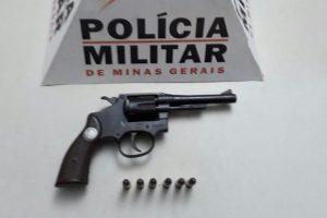 Alto Jequitibá: PM apreende arma de fogo em situação irregular