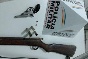 Espera Feliz: PM apreende armas e munições no meio da mata