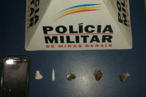 Manhuaçu: PM prende motociclista com drogas