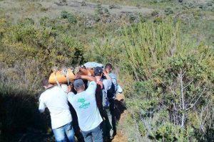 Bombeiros resgatam jovem que passou mal no terreirão do Parque Nacional do Caparaó