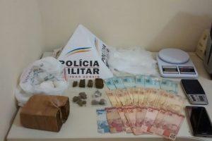 Lajinha: Drogas e dinheiro apreendidos pela PM