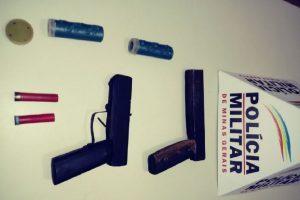 PM prende o autor por ameaça e fabricação de armas