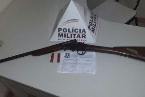 Matipó: PM apreende arma de fogo e munição na zona rural