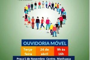 Manhuaçu recebe Ouvidoria Móvel nesta terça-feira, 24/04