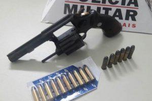 Mais uma arma de fogo recolhida pela PM na região