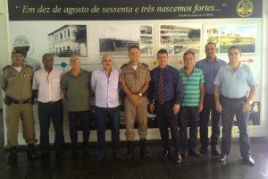 Manhuaçu: Comandante do 11º BPM recebe visita de empresários da região