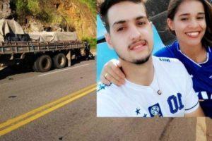 Caratinga: Casal morre em acidente na BR-458