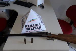 Caiana: PM apreende espingarda de posse irregular