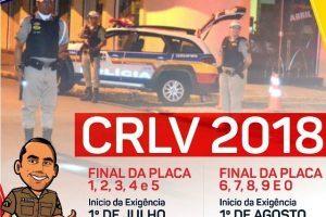Fiscalização do CRVL 2018 começa dia 1º de julho