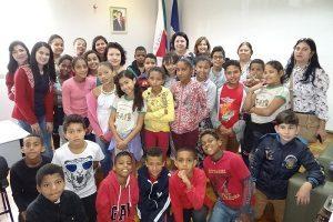 Educandos da EM Sônia Maria Batista da Silva visitam a Prefeitura