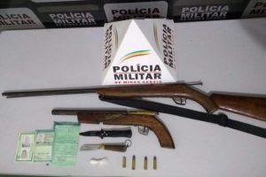 Armas e munições são apreendidas pela PM