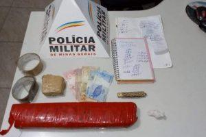 Manhuaçu: Suspeitos de tráfico de drogas presos pela PM