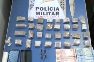 PM apreende drogas e armas no Bairro Santa Luzia