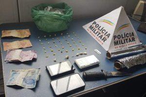Casal é preso acusado de tráfico de drogas no Bairro Santa Luzia
