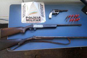 Armas e munições apreendidas em Manhuaçu