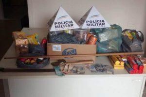PM recupera produtos furtados em Mercearia. Autores conduzidos