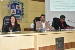Prefeitura presta contas na Câmara; Hospital municipal levará nome do Padre Júlio