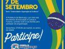 7 de setembro com desfile cívico e feira gastronômica em Manhuaçu