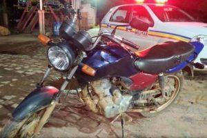 Motocicleta recuperada em Martins Soares