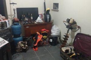 Manhuaçu: Ladrões são presos pela PM e produtos recuperados