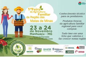 Sexta e sábado de Feira da Agricultura Familiar em Manhuaçu