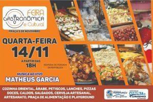 Feiras gastronômicas programadas para esta quarta-feira em Manhuaçu