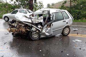 Inhapim: Acidente com vítima fatal na BR-116
