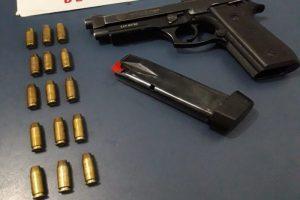 Arma furtada é recuperada pela PM em Manhuaçu