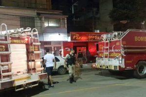 Manhuaçu: Pizzaria pega fogo no Coqueiro. Bombeiros agiram rápido