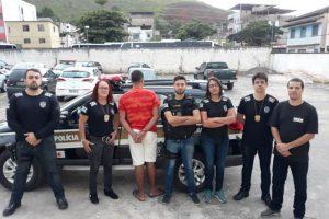 Manhuaçu: PC cumpre mandado de prisão de acusado de estupro