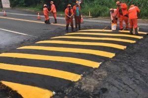 Quebra-molas na rodovia trazem mais segurança para população de Manhuaçu
