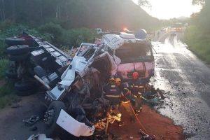 Matipó: Um morto e dois feridos em acidente na BR 262