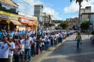 Terço dos homens celebra aniversário em Manhuaçu