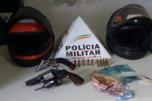 Região: PM prende acusados de assalto a posto de combustível