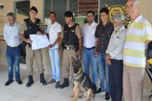 Canil do 11º BPM recebe dois cães doados pelo Consep de Santa Margarida