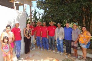 Cici Magalhães visita obras em Palmeiras do Manhuaçu